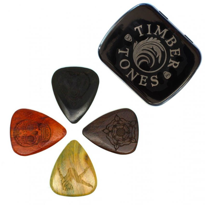 Tattoo Tones - Tin of 4 Guitar Picks | Timber Tones